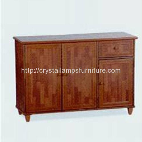 3609022 3 Doors Kitchen Cabinet Crystal Lamps Furniture